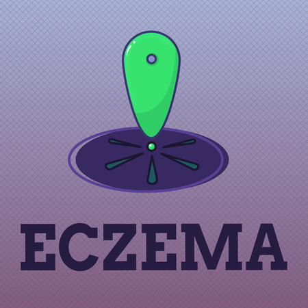 Word writing text Eczema. Business concept for Skin condition marked by itchy and inflamed patches Atopic dermatitis. Stock Photo