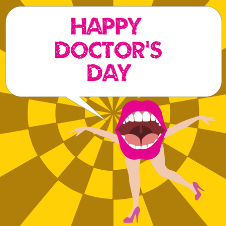 Conceptual hand writing showing Happy Doctor s is Day. Business photo text holiday that honors physicians for the work they do.
