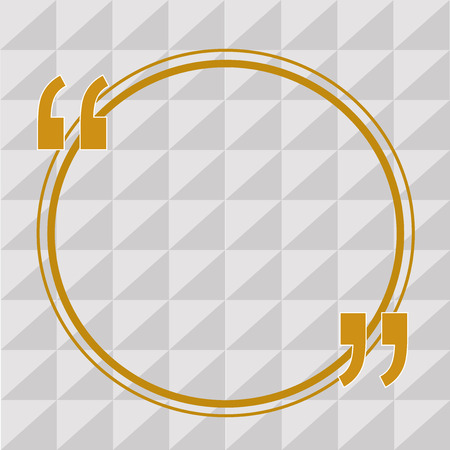 Flat design business Vector Illustration Empty copy space for Ad website promotion esp isolated Banner template. Big Circle Loop or Ring for Quoting and Quotation Mark Punctuation Иллюстрация