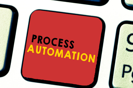 Word writing text Process Automation. Business concept for Transformation Streamlined Robotic To avoid Redundancy.