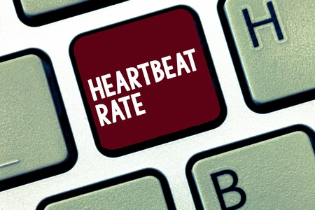 Handwriting text Heartbeat Rate. Concept meaning measured by number of times the heart contracts per minute.