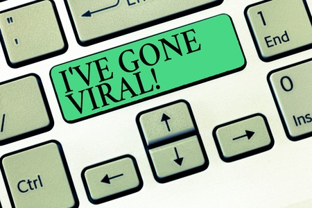 Text sign showing Ive have Gone Viral. Conceptual photo medical term used to describe small infectious agent.
