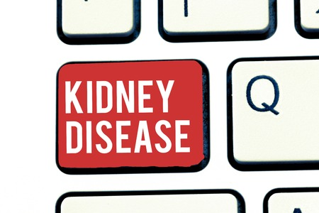 Handwriting text writing Kidney Disease. Concept meaning Kidneys can no longer perform its functions to full capacity.