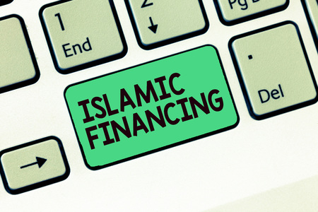 Writing note showing Islamic Financing. Business photo showcasing Banking activity and investment that complies with sharia.