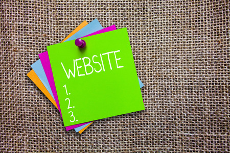 Conceptual hand writing showing Website. Business photo showcasing Related web pages located under single domain name Internet. Stock Photo