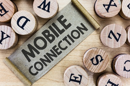 Text sign showing Mobile Connection. Conceptual photo Secure universal login solution using mobile phone.