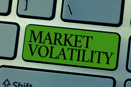 Word writing text Market Volatility. Business concept for Underlying securities prices fluctuates Stability status.
