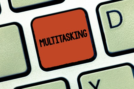 Handwriting text Multitasking. Concept meaning Person who can deal with more than one task at the same time. Stock Photo