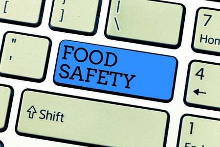 Handwriting text writing Food Safety. Concept meaning Conditions and practices that preserve the quality of food.
