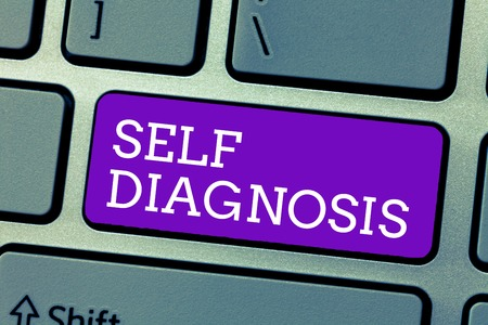 Word writing text Self Diagnosis. Business concept for The process of identifying medical conditions in oneself.