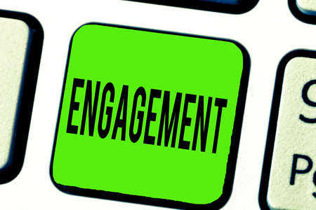 Text sign showing Engagement. Conceptual photo Formal agreement to get married arrangement for doing something.