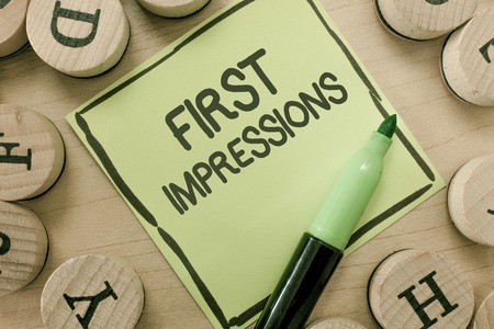 Conceptual hand writing showing First Impressions. Business photo showcasing What a person thinks of you when they first meet you. Banque d'images - 110736322