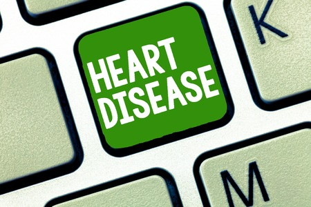Handwriting text Heart Disease. Concept meaning Heart disorder Conditions that involve blocked blood vessels.
