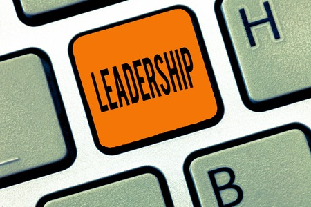 Conceptual hand writing showing Leadership. Business photo text Ability Activity involving leading a group of showing or company.