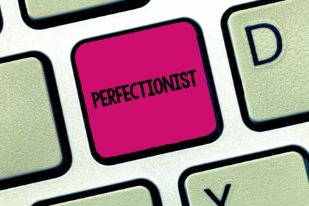 Text sign showing Perfectionist. Conceptual photo Person who refuses to accept any standard short of perfection. Фото со стока