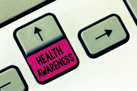 Text sign showing Health Awareness. Conceptual photo Promoting community issues and preventative action. Stock Photo