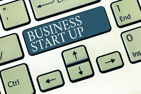 Conceptual hand writing showing Business Start Up. Business photo showcasing Putting up new commerce venture Fresh Undertaking.