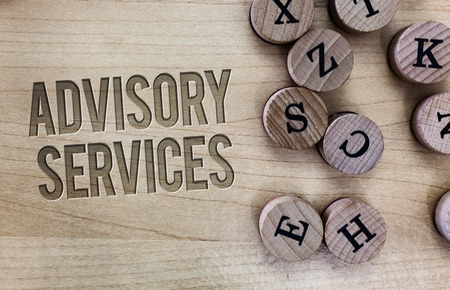 Conceptual hand writing showing Advisory Services. Business photo showcasing Support actions and overcome weaknesses in specific areas.