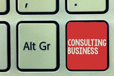 Text sign showing Consulting Business. Conceptual photo Consultancy Firm Experts give Professional Advice. Stock fotó