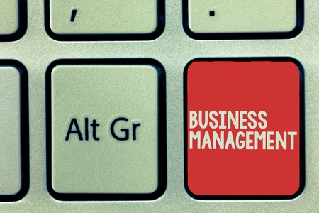 Text sign showing Business Management. Conceptual photo Overseeing Supervising Coordinating Business Operations.