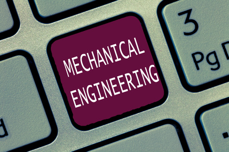 Text sign showing Mechanical Engineering. Conceptual photo deals with Design Manufacture Use of Machines.
