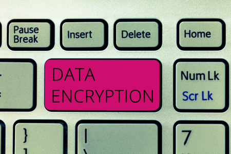 Word writing text Data Encryption. Business concept for Symmetric key algorithm for the encrypting electronic data.