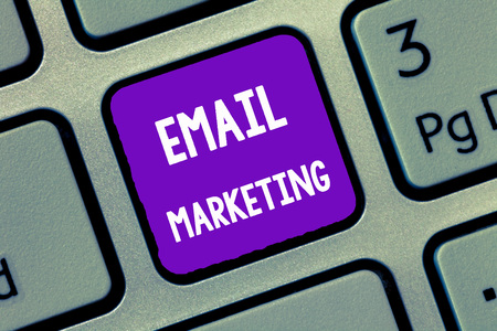 Handwriting text writing Email Marketing. Concept meaning Sending a commercial message to a group of people using mail. Stock Photo