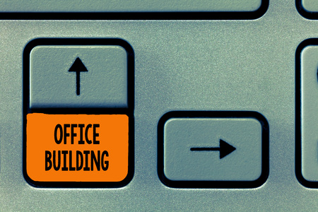 Text sign showing Office Building. Conceptual photo Commercial buildings are used for commercial purposes.