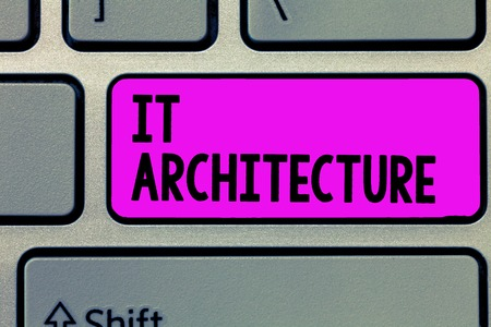 Text sign showing It Architecture. Conceptual photo Architecture is applied to the process of overall structure.