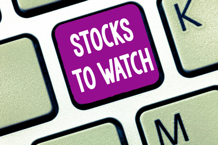 Text sign showing Stocks To Watch. Conceptual photo being heavy broker and watch every increase decrease. Reklamní fotografie