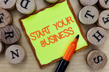 Word writing text Start Your Business. Business concept for going into a New Venture Create New Product Services. 写真素材