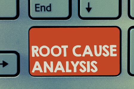 Text sign showing Root Cause Analysis. Conceptual photo Method of Problem Solving Identify Fault or Problem. Standard-Bild - 110963557