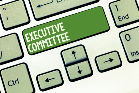 Word writing text Executive Committee. Business concept for Group of Directors appointed Has Authority in Decisions. 스톡 콘텐츠