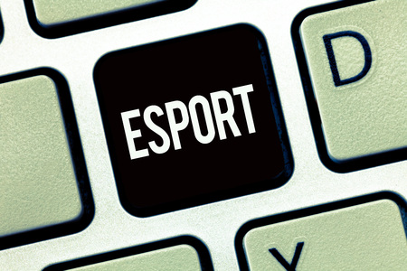 Word writing text Esport. Business concept for multiplayer video game played competitively for spectators and fun.