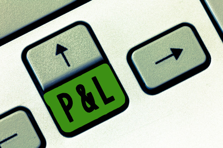 Text sign showing P and L. Conceptual photo primary financial statements to assess companys financial position. Standard-Bild