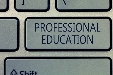 Writing note showing Professional Education. Business photo showcasing Continuing Education Units Specialized Training. 写真素材
