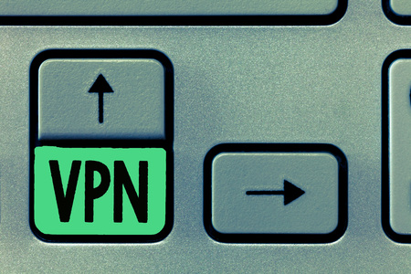 Conceptual hand writing showing Vpn. Business photo text Redirects your connection to the Internet through configured server.