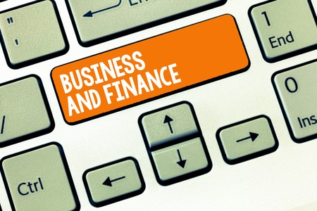 Handwriting text writing Business And Finance. Concept meaning Management of Asset Money and Fund of a company.