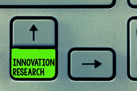 Word writing text Innovation Research. Business concept for Existing Products Services come into New Being.