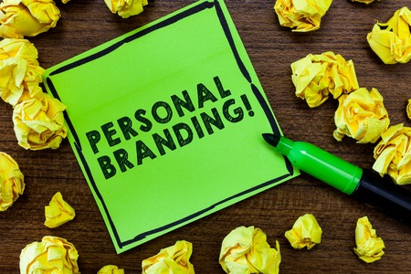 Text sign showing Personal Branding. Conceptual photo Practice of People Marketing themselves Image as Brands. Stok Fotoğraf