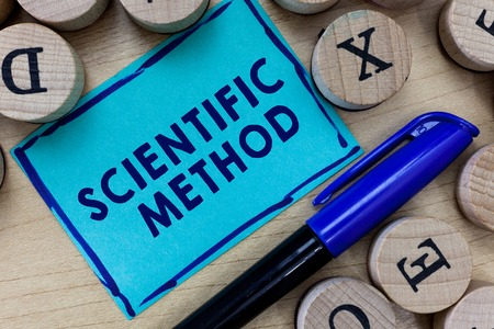 Conceptual hand writing showing Scientific Method. Business photo text Principles Procedures for the logical hunt of knowledge.