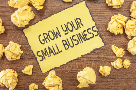 Text sign showing Grow Your Small Business. Conceptual photo company generates positive cash flow Earn. Banco de Imagens