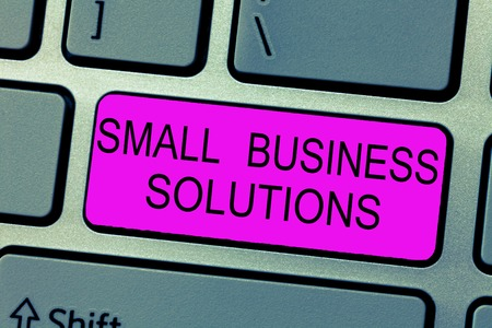 Text sign showing Small Business Solutions. Conceptual photo a Company to solve Specific Trade problems.