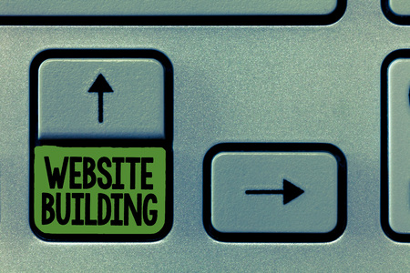 Handwriting text writing Website Building. Concept meaning tools that typically allow the construction of pages. Stock Photo