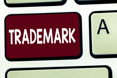 Writing note showing Trademark. Business photo showcasing Legally registered Copyright Intellectual Property Protection. Stock Photo