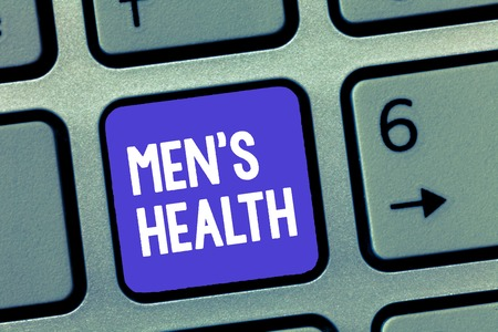 Word writing text Men s is Health. Business concept for State of complete physical and mental wellbeing of men.