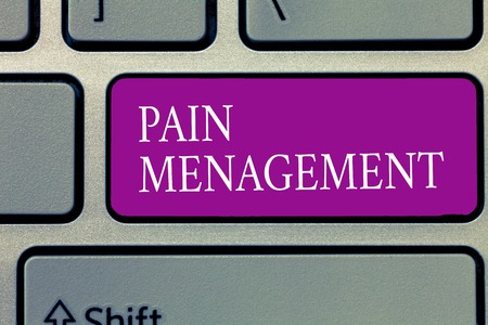 Conceptual hand writing showing Pain Management. Business photo text a branch of medicine employing an interdisciplinary approach.