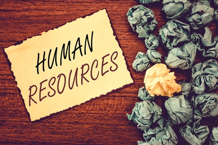Word writing text Human Resources. Business concept for The people who make up the workforce of an organization.