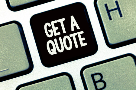 Handwriting text writing Get A Quote. Concept meaning To have last price at which a security or commodity traded.