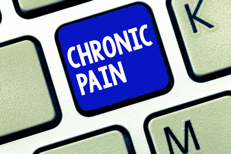Text sign showing Chronic Pain. Conceptual photo Pain that extends beyond the expected period of healing.